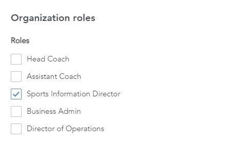 ITA Team Workspace organization roles